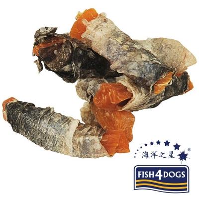 【海洋之星FISH4DOGS】營養潔齒點心、魚皮地瓜100g、適合一般犬隻