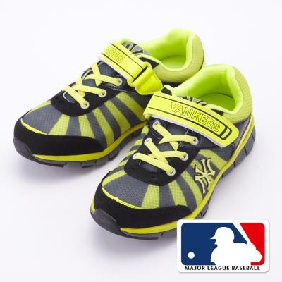 MLB大聯盟洋基2015新品。避震氣墊運動童鞋款黃