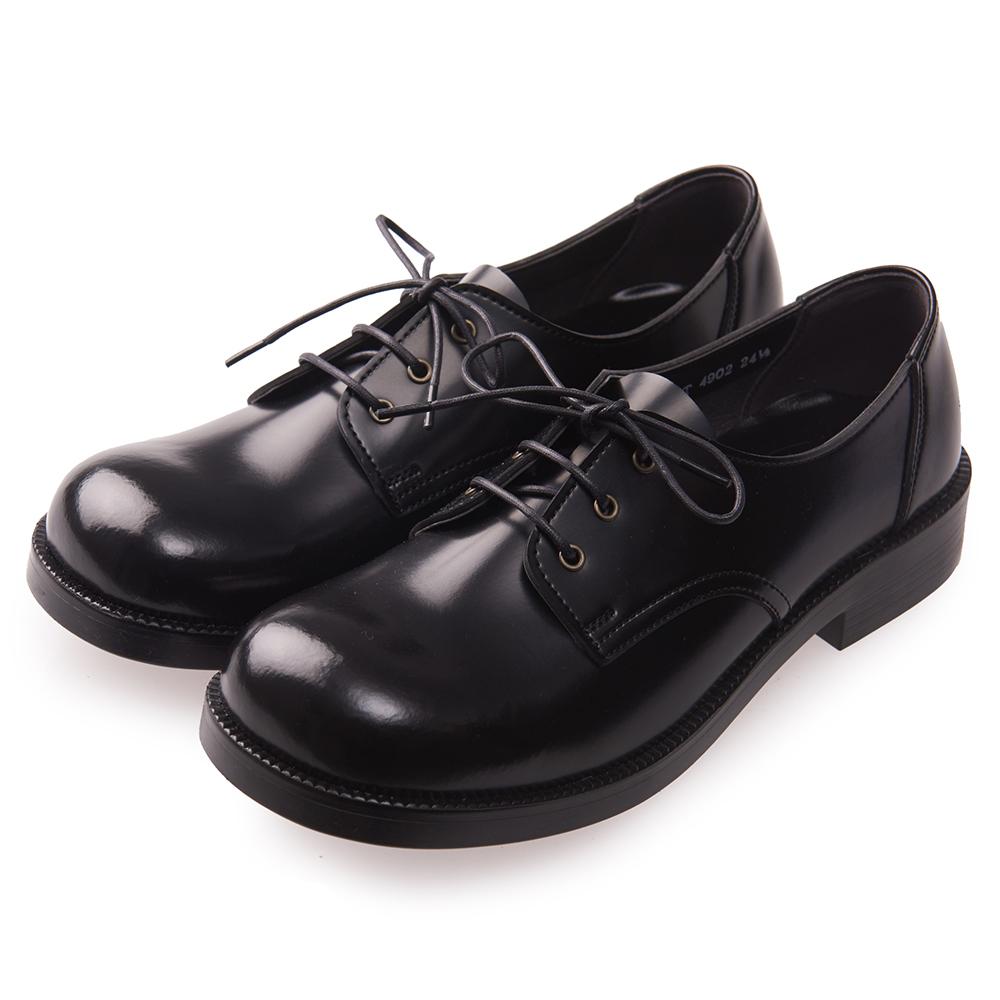 (女)日本 HARUTA 3孔綁帶學生鞋-黑色 @ Y!購物