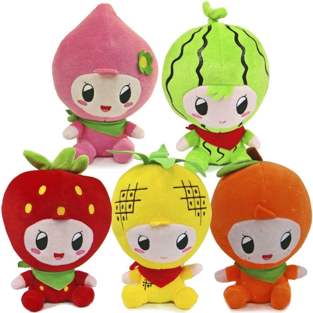 寵物發聲玩伴毛公仔-水果系列、5款可選