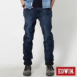 EDWIN 迦績褲重水洗磨毛保溫AB褲-男-酵洗藍