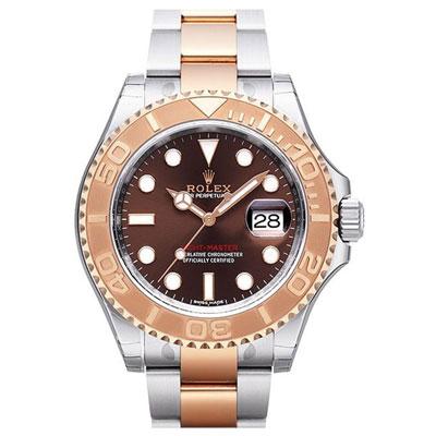 ROLEX 勞力士 116621 遊艇18k玫瑰金腕錶-巧克力色/40mm