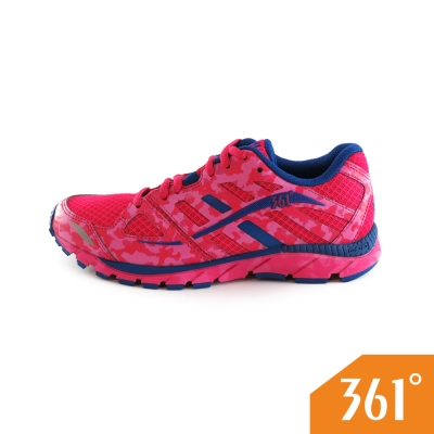 361 女運動常規迷彩慢跑鞋-玫紅/紫藍