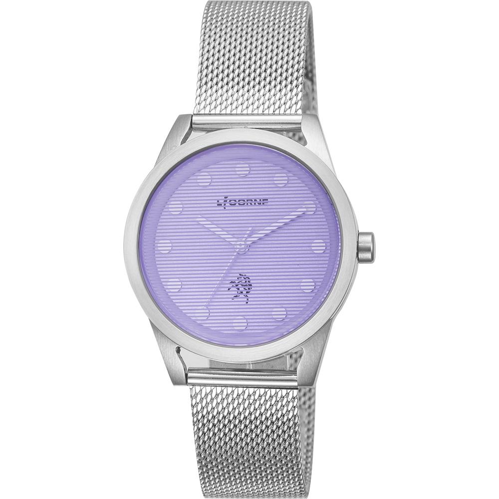 LICORNE 繽紛糖果魅力米蘭錶女錶 -紫/33mm