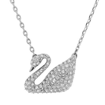SWAROVSKI 施華洛世奇 天鵝造型水晶銀色項鍊