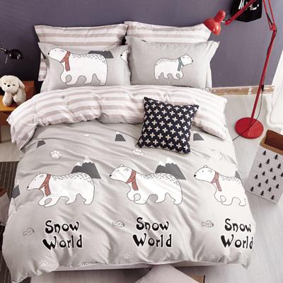Grace Life 海派甜心 精梳純棉雙人涼被床包四件組