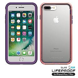 LIFEPROOF iPhone8+/7+專用 吸震抗衝擊防摔手機殼-SLAM(紫粉)