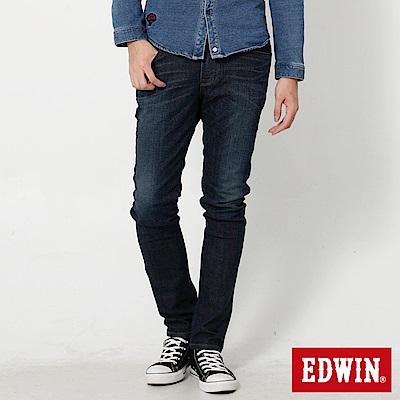 EDWIN EDGE雙口袋窄直筒牛仔褲-男-石洗綠
