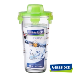 Glasslock玻璃隨行杯450ml-繽紛綠