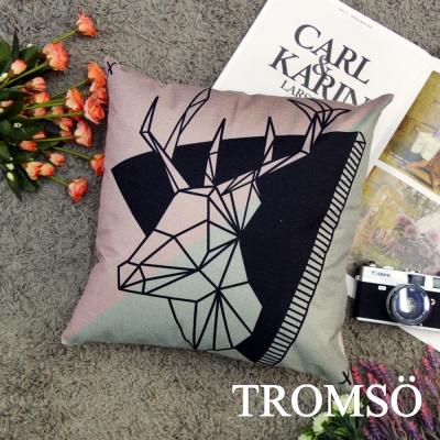 TROMSO品味英倫棉麻抱枕44x44cm U100北歐公鹿
