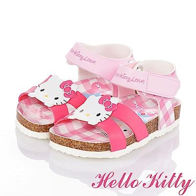 HelloKitty 好朋友系列 舒適減壓吸震防滑休閒涼鞋童鞋-桃