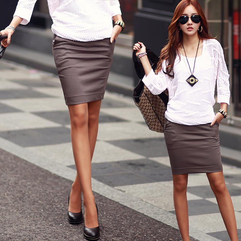 簡約鬆緊柔軟棉質小短裙 (共三色)-N.C21