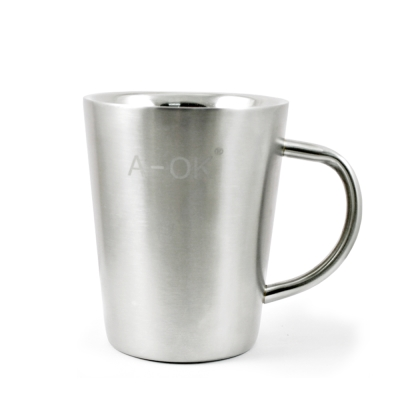 三零四嚴選 #304不鏽鋼簡約美式咖啡杯 1入 (不含蓋/400cc/個)