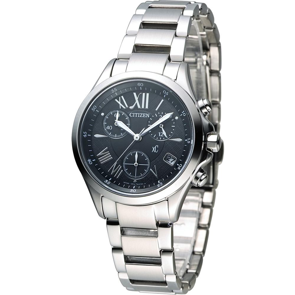 CITIZEN xC 自信魅力光動能計時錶(FB1400-78E)-黑/32mm @ Y!購物