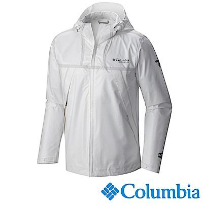 Columbia 哥倫比亞 男-鈦OD ECO連帽外套-白色-URE10380WT