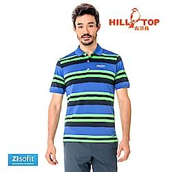 【hilltop山頂鳥】男款吸濕排汗抗UV彈性POLO衫S14MF4-明亮綠