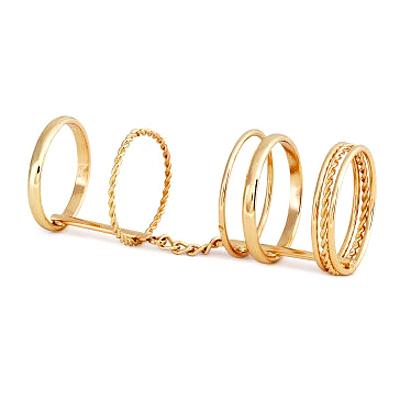 Aimee-Toff-指節分明金采連串戒指
