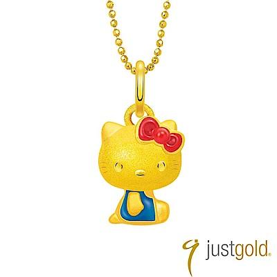 鎮金店Just Gold 經典復刻版Kitty黃金墜子