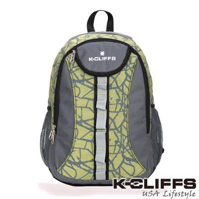【美國K-CLIFFS】潮流繽紛雙肩後背包-時尚綠