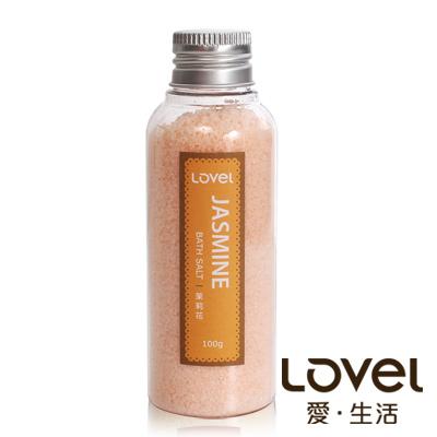 Lovel 天然井鹽/香氛沐浴鹽100g5入組(優雅茉莉花)