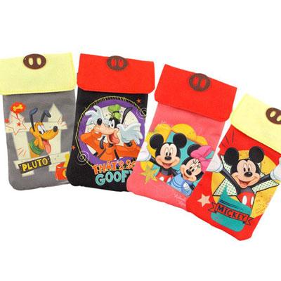 Disney 5.5吋通用可愛雙層帆布手機袋