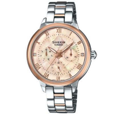 SHEEN耀眼羅馬時刻優雅風格腕錶(SHE-3055SPG-4A)玫瑰金框X香檳粉34.3mm