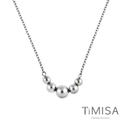 TiMISA《珠輝玉麗》純鈦項鍊(E)