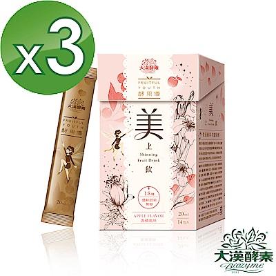 【大漢酵素】美上飲3入組(買二送一)(20mLx14入x3盒)