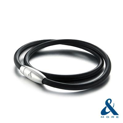 &MORE愛迪莫 MEGA POWERⅡ超濃雙層鍺鈦手環(4mm)