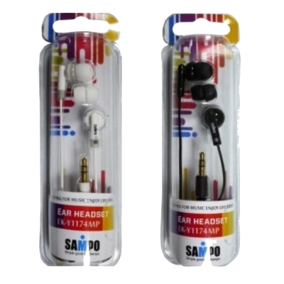 SAMPO 基本款耳道式耳機EK-Y1174(兩入裝)