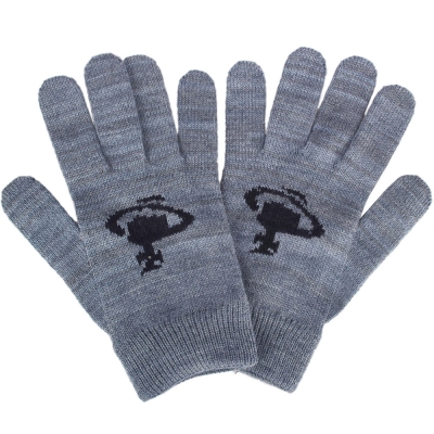 Vivienne Westwood 經典行星圖案毛線針織手套-藍灰色