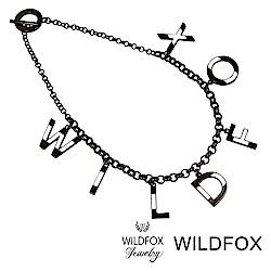 Wildfox Couture 美國品牌 Wildfox 字母白琺瑯黑色項鍊