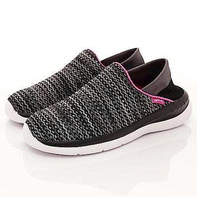 Lotto樂得-襪套式針織後跟鞋-XSI000黑(女段)