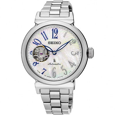 SEIKO 精工 LUKIA 美好時光機械女錶(SSA839J1)-珍珠貝/36mm