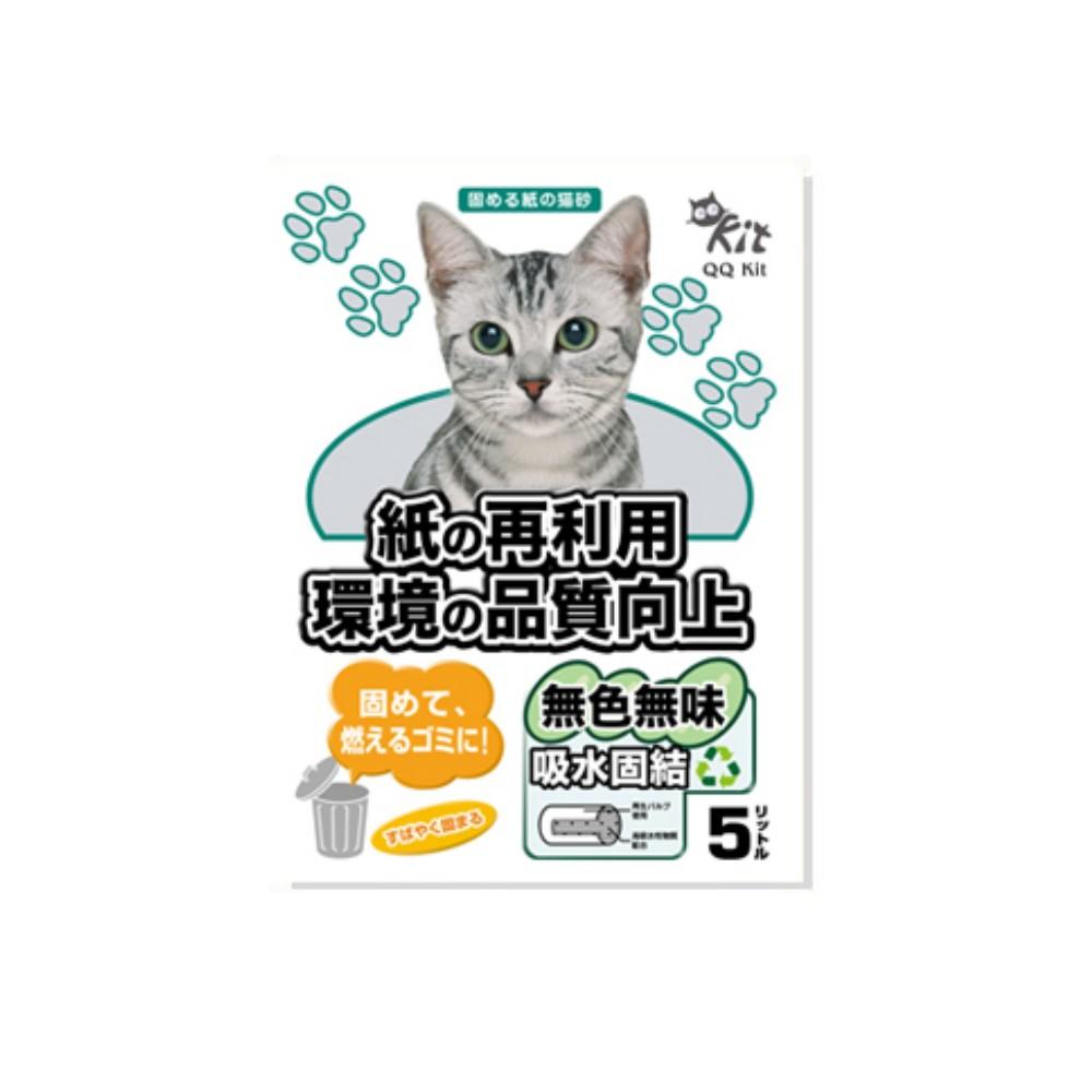 QQ KIT 環保紙貓砂 5L 原味 (單包)
