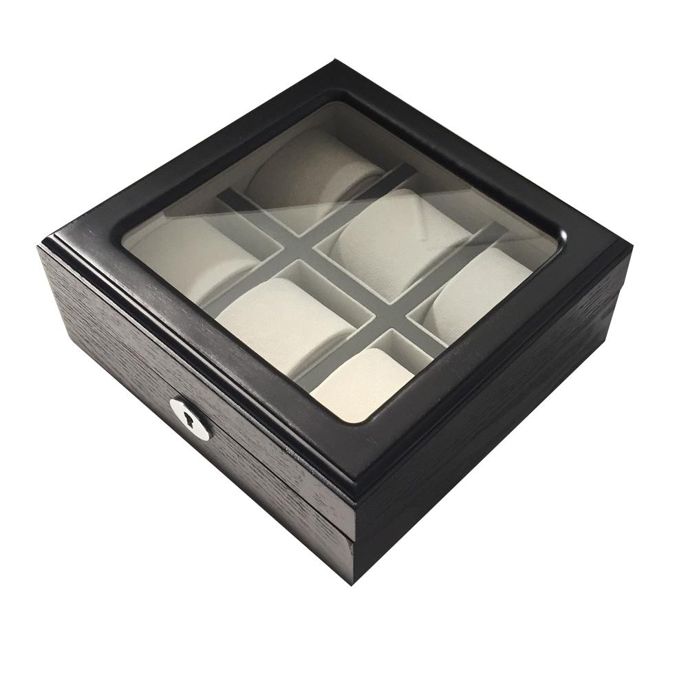 PARNIS BOX 質感黑木盒6只裝 木盒01 灰色絨布
