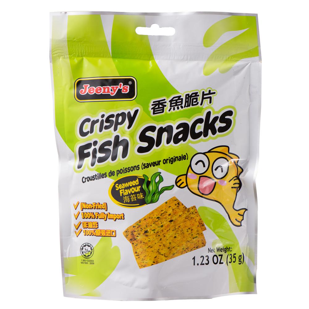 姬妮思 香魚脆片-海苔味(35g)