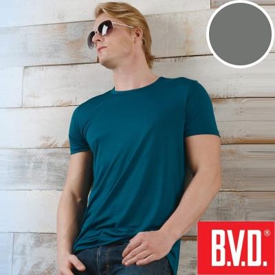 BVD 沁涼舒適酷涼 圓領短袖衫(灰色4入組)-台灣製造