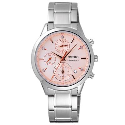 SEIKO  行星寶石時尚日期腕錶-SNDV 85 P 1 - 37 mm