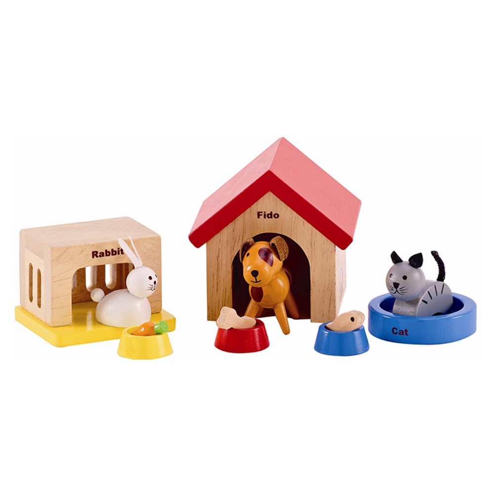 德國educo愛傑卡 角色扮演娃娃屋居家系列 可愛動物組合