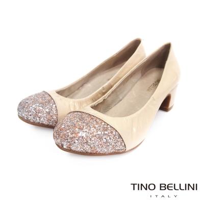 Tino-Bellini-俏麗耀眼圓楦中低跟鞋-膚