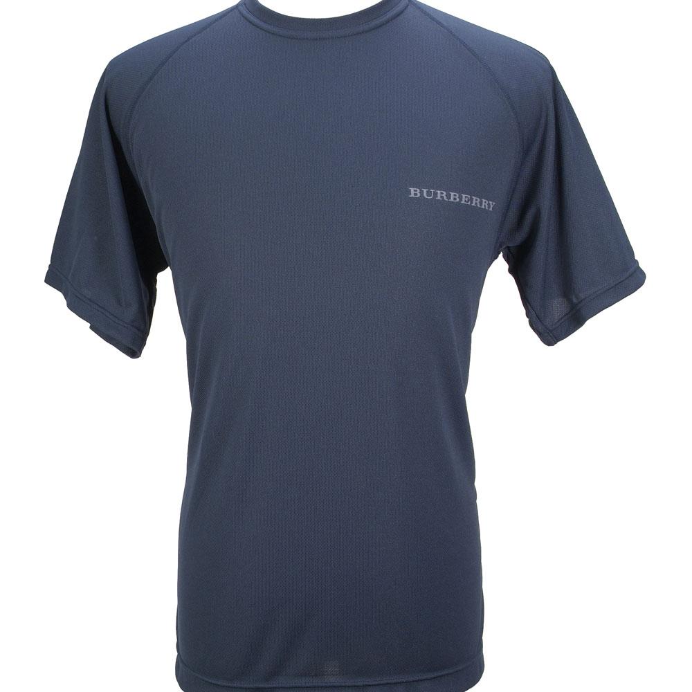 BURBERRY 紳士透氣吸濕排汗衫-藍