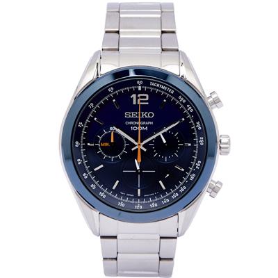 SEIKO 自我品味時尚男性手錶(SSB091P1)-藍面/45mm