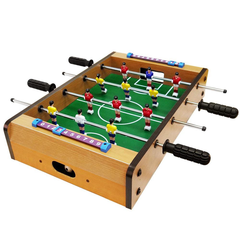 瘋世足桌上型仿真木製手足球台