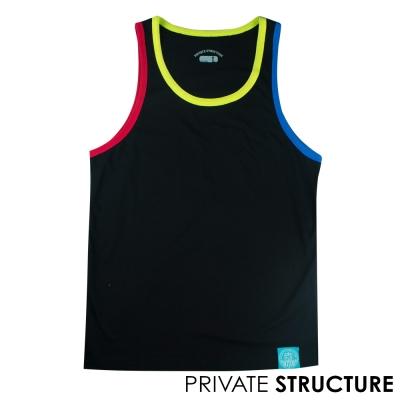 Private Structure 三元素拼色運動款背心(黑色)