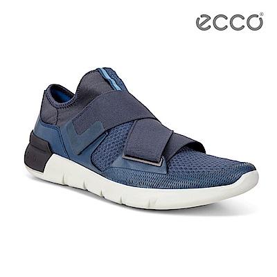 ECCO CROSS X 潮流運動休閒鞋-藍
