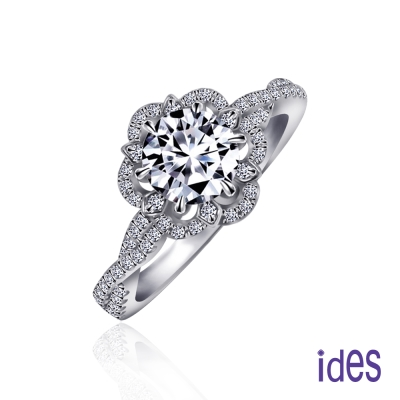 ides愛蒂思 GIA1克拉設計款F/VS2八心八箭完美3EX車工鑽石戒指/歐風花園