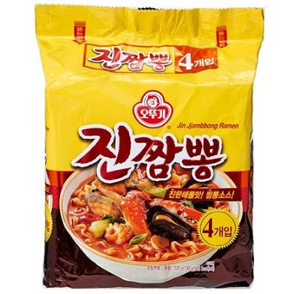 OTTOGI不倒翁 金螃蟹海鮮風味拉麵(130gx4包)