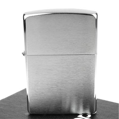 【ZIPPO】美系~拉絲打磨鍍鉻~銀色霧面打火機