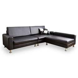 時尚屋藤原L型鐵腳沙發-三色可選